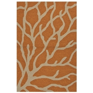 Jaipur Coral Rug From Coastal Lagoon Collection COL27 - Orange/Taupe