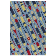 Jaipur Crew Rug From Design Campus-Indoor Outdoor Collection DCI01 - Blue/Yellow