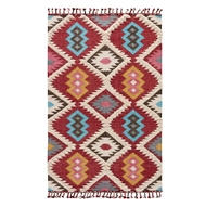 Jaipur Darby Rug From Kokoda Collection KOK01 - Red/Blue