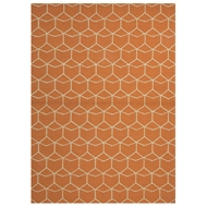 Jaipur Estrellas Rug From Barcelona I-O Collection BA07 - Orange/Ivory