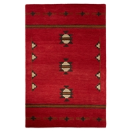 Jaipur Fir Rug From Cabin Collection CBN02 - Red/Gray