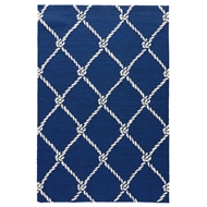 Jaipur Fish Net Rug From Coastal Lagoon Collection COL52 - Blue/White