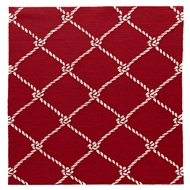 Jaipur Fish Net Rug From Coastal Lagoon Collection COL53 - Red/White