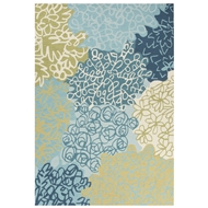 Jaipur Gardner Rug From Brio Collection BR61 - Blue/Green