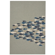 Jaipur Go Fish Rug From Coastal Lagoon Collection COL41 - Green