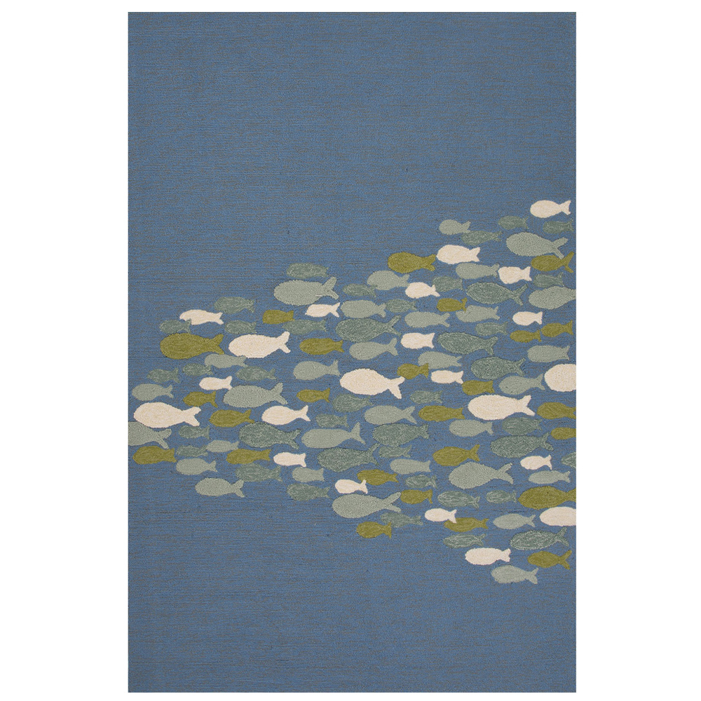 Jaipur Go Fish Rug From Coastal Lagoon Collection Col42 Blue