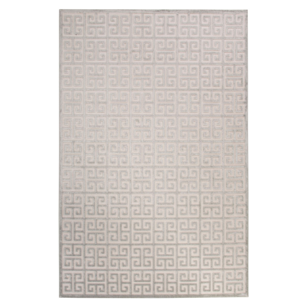 Jaipur Greek Rug From Fables Collection Fb111 Ivory Blue