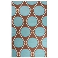 Jaipur Grid Dot Rug from En Casa By Luli Sanchez - Cyan Blue