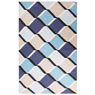 Jaipur Harlequin Cube Rug From En Casa By Luli Sanchez LSF13 - Blue/Taupe
