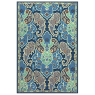 Jaipur Hoja Rug From Barcelona I-O Collection BA61 - Blue/Gray