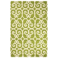 Jaipur Ironwork Rug From Barcelona I-O Collection BA33 - Green/Ivory
