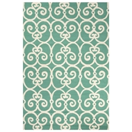 Jaipur Ironwork Rug From Barcelona I-O Collection BA34 - Blue/Ivory
