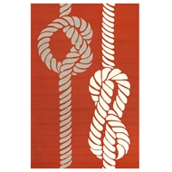 Jaipur Knotty Rug From Grant I-O Collection GD45 - Orange/Ivory