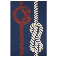 Jaipur Knotty Rug From Grant I-O Collection GD46 - Blue/Red