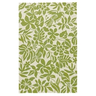 Jaipur Kokomo Rug from Coastal Lagoon Collection COL56 - Green/White