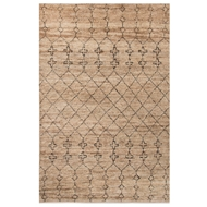 Jaipur Lapins Rug From Luxor By Nikki Chu Collection LNK05 - Natural/Black