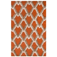 Jaipur Loras Rug from National Geographic Home Collection - Apricot Orange