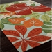 Jaipur Luau Rug From Coastal Lagoon Collection COL20 - Floorshot Green/Red