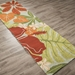 Jaipur Luau Rug From Coastal Lagoon Collection COL20_RNR - Floorshot Green/Red