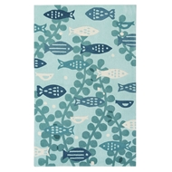 Jaipur Marine Rug From Iconic By Petit Collage Collection IBP07 - Blue