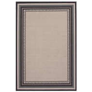Jaipur Matted Rug From Bloom Collection BLO26 - Ivory/Black