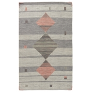 Jaipur Meyer Rug From Carolina Collection CAL02 - Gray/Pink