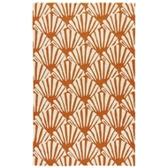 Jaipur Mollusk Rug From Barcelona I-O Collection BA69 - Orange/White