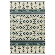 Jaipur Montserrat Rug From Barcelona I-O Collection BA70 - White/Blue