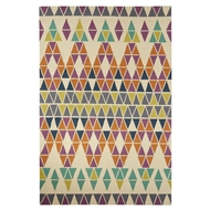 Jaipur Morning Glory Rug From Catalina Collection CAT24 - Ivory/Purple