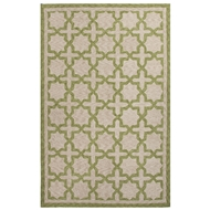 Jaipur Moroccan Mosiac Rug From Catalina Collection CAT05 - Ivory/Green