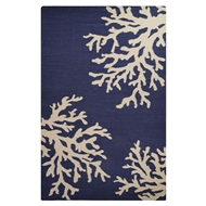 Jaipur Ocean Side Rug From Urban Bungalow Collection UB40 - Blue/Ivory