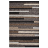Jaipur Offset Lines Rug From Catalina Collection CAT10 - Gray/Brown