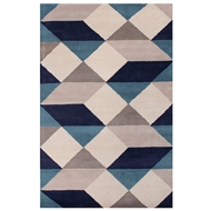 Jaipur Ojo Rug From En Casa By Luli Sanchez LST17 - Blue/Ivory