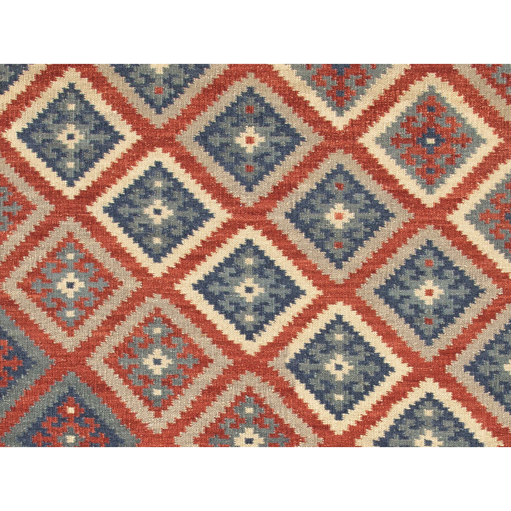 Jaipur Ottoman Rug From Anatolia Collection AT01 - Closeup Red/Blue