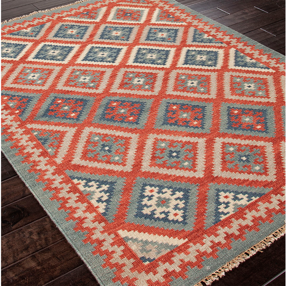 Jaipur Ottoman Rug From Anatolia Collection AT01 - Floorshot Red/Blue