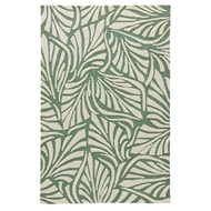 Jaipur Palm Breezy Rug from Coastal Lagoon Collection COL62 - Green/White