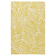 Jaipur Palm Breezy Rug from Coastal Lagoon Collection COL64 - Yellow/White