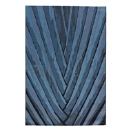 Jaipur Palm Leaf Rug From National Geographic Home Collection NGO03 - Blue/Black