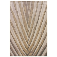 Jaipur Palm Leaf Rug From National Geographic Home Collection NGO06 - Gray/Silver