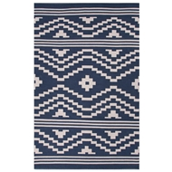 Jaipur Patagonia Rug From Traditions Made Modern Cotton Flat Weave Collection MCF03 - Blue/Ivory