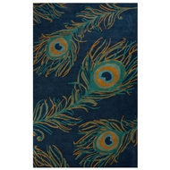 Jaipur Peacock Rug From National Geographic Home Collection NGT05 - Blue