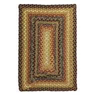 Jaipur Peppercorn Rug From Cotton Braided Rugs Collection CBR03 - Taupe/Red