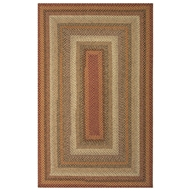 Jaipur Pumpkin Pie Rug From Cotton Braided Rugs Collection CBR04 - Red/Ivory