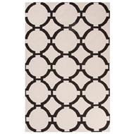 Jaipur Rafi Rug From Maroc Collection MR129 - Ivory/Black