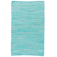 Jaipur Raggedy Rug from Ann Collection - Aqua Foam