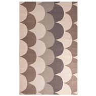 Jaipur Ripple Rug From En Casa By Luli Sanchez LSF07 - Taupe/Tan