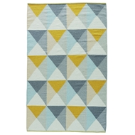 Jaipur Ritner Rug from Elmhurst Collection ELM03 - Yellow/Blue