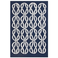 Jaipur Roped In Rug From Coastal Lagoon Collection COL23 - Blue/White
