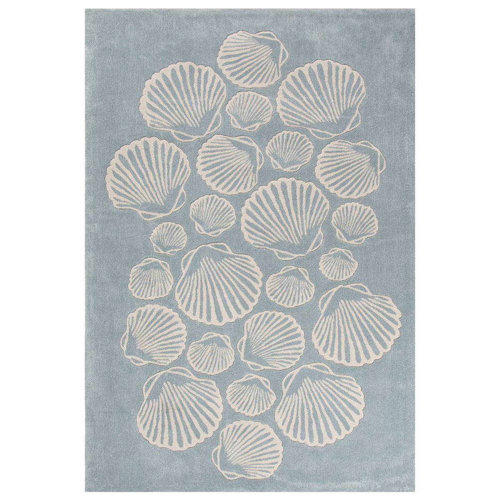 Jaipur Sable Rug From Coastal Tides Collection COT08   Blue/Ivory ...