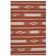 Jaipur Sassandra Rug From Traditions Made Modern Flat Weave Collection MMF12 - Red/Ivory
